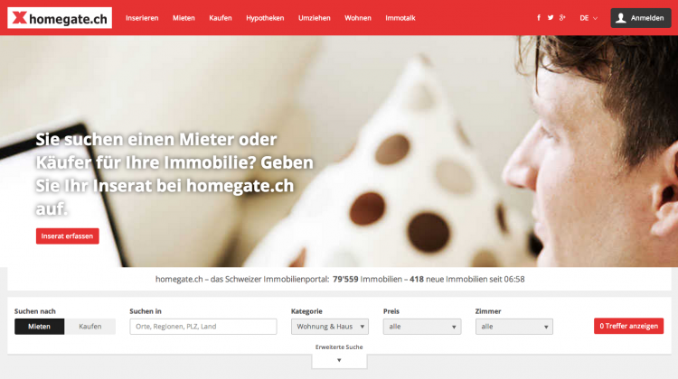 Homegate.ch Relaunch 2014
